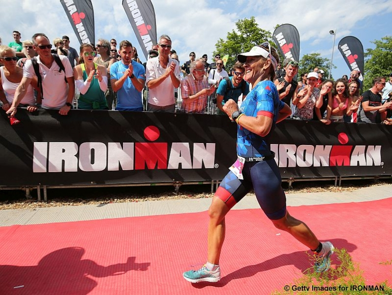 KLAGENFURT, AUSTRIA - JULY 01:  Mareen Hufe of Germany wins the women's race at Ironman Austria-Karntenon July 1, 2018 in Klagenfurt, Austria. (Photo by Nigel Roddis/Getty Images for IRONMAN)