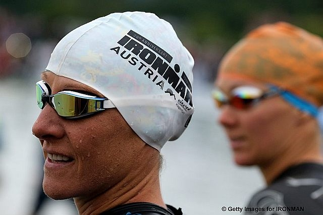 KLAGENFURT, AUSTRIA - JULY 01:  Athletes ahead of Ironman Austria-Karntenon July 1, 2018 in Klagenfurt, Austria. (Photo by Nigel Roddis/Getty Images for IRONMAN)